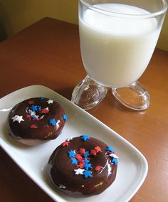 chocolate sour cream baked mini donuts