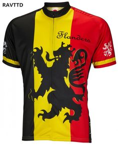 Lion Of Flanders Jersey Men Pro Cycling Clothing Bicycle Clothing MTB Clothes Summer Bike Shirts Tops Quick-Dry