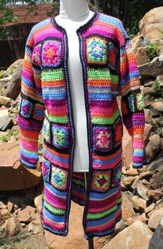 Granny square crochet jacket  Crochet jacket  by KennaInAfrica