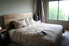 Modern Rustic Headboards made out of old pallets. on Behance