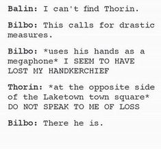hahaha you can always find thorin