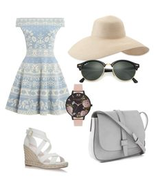 """Untitled #22"" by amandaberger on Polyvore featuring Alexander McQueen, Eric Javits, Ray-Ban, Olivia Burton and Gap"