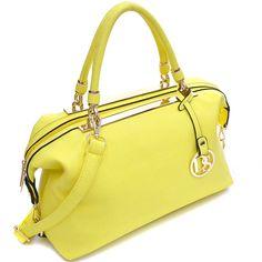 Dasein Gold-Tone Frame Faux Leather Large Hobo Shoulder Bag Handbag Shopping Bag Single / Handbag