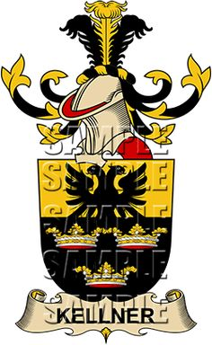 Kellner Family Crest apparel, Kellner Coat of Arms gifts