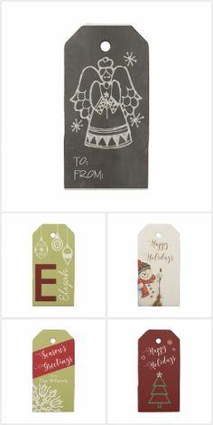 Trendy Christmas Gift Tags