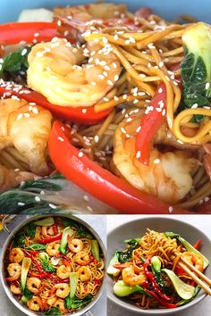 Shrimp Lo Mein Shrimp Lo Mein The Most Delicious Recipe Ever Made With Simply Asia Chinese Style Lo Mein Noodles And Topped With Shrimp It S Better Than Restaurants Shrimp Pasta Dinner Shrimp Recipes Easy, Fish Recipes, Seafood Recipes, Asian Recipes, Healthy Dinner Recipes, Chicken Recipes, Cooking Recipes, Shrimp Lo Mein Recipe Easy, Meat Recipes