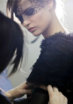 Bianca Balti at Chanel Haute Coture F/W 2011/12 Backstage
