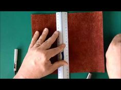 Making your own Midori-style Leather Traveler's Notebook - YouTube