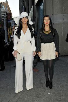 Kim Kardashian Mini Skirt - Kim Kardashian Clothes - StyleBistro LOVE THE ALL WHITE LOOK!