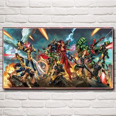Marvel Comics X Men The Avengers Wolverine Thor Movie Art Silk Poster Home Decor Painting 11x20 16x29 20x36 Inch Free Shipping-in Painting & Calligraphy from Home & Garden on Aliexpress.com | Alibaba Group
