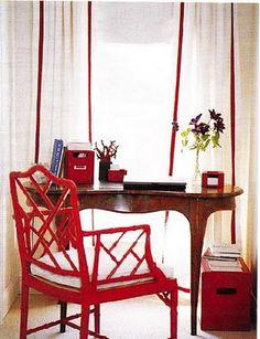 Brilliant decor in red