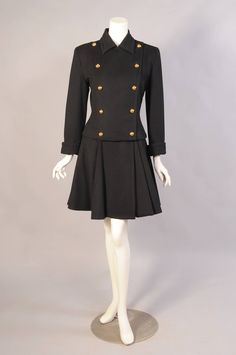 Patrick Kelly Jacket & High Waisted Skirt | From a collection of rare vintage suits, outfits and ensembles at https://www.1stdibs.com/fashion/clothing/suits-outfits-ensembles/