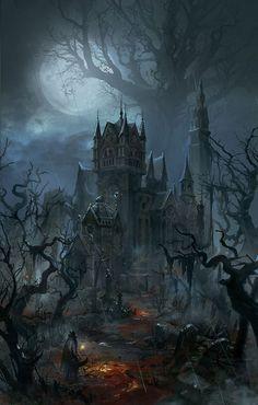 A gothic halloween dark fantasy art, fantasy rpg, fantasy world, fantasy artwork, Dark Fantasy Art, Fantasy Artwork, Fantasy Kunst, Dark Art, Fantasy Rpg, Final Fantasy, Medieval Fantasy, Dark Gothic Art, Gothic Artwork