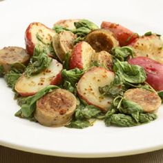 Warm Chicken Sausage & Potato Salad #sautebetter