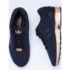 Shoes: black sneakers adidas workout sportswear sports adidas zx flux... ❤ liked on Polyvore featuring shoes, sneakers, low profile sneakers, black tennis shoes, sport trainer, black low top sneakers and sports trainer