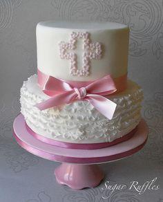 Christening Cake by Sugar Ruffles, via Flickr