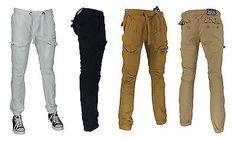 Men's twill 7 pockets cargo jogger pants