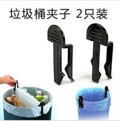 2Pcs Cute Trash Bag Fixed Clip Office Dustbin Waste Bin Garbage Can Holder Clamp