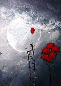 ----  Una scala per toccare la Luna.