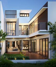 How Interior Designers Make Money Duplex House Design, House Front Design, Small House Design, Dream Home Design, Modern House Design, Modern Minimalist House, House Design Pictures, Casas Containers, Dream House Exterior