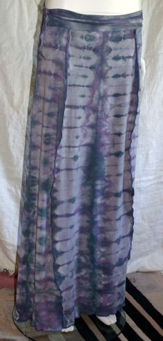 KMZ Organic Hip Huggin' Skirt Hand Dyed size Large to XL by KreativeMindz on Etsy, $80.00