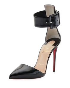 Christian Louboutin Harler d'Orsay Patent Red Sole Pump, Black