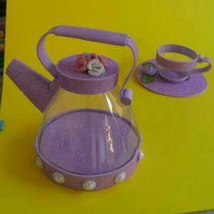 Apothecary Jar Home Decor - Set of three pint or pint size mason jars on pedestal base Kids Crafts, Diy Crafts Hacks, Foam Crafts, Diy Home Crafts, Paper Crafts, Accessoires Barbie, Matchbox Crafts, Home Decor Sets, Cardboard Toys