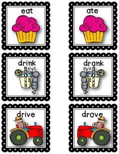 Irregular Verbs Memory Teaching Vowels, Teaching Grammar, Teaching Reading, Teaching English, Learning, Grammar Games, Good Grammar, Speech Language Pathology, Speech And Language