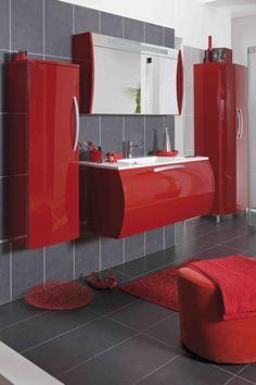 Meubles contemporains de salles de bains on pinterest loft for Lapeyre creatis