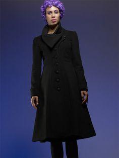 Audrey Coat - Vautecouture.  Vegan friendly winter wear. Really cool concept, really cool coats.  www.vautecouture.com