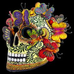 Alfonzo Castilo Skull sculpture  www.mexican-folk-art-guide.com
