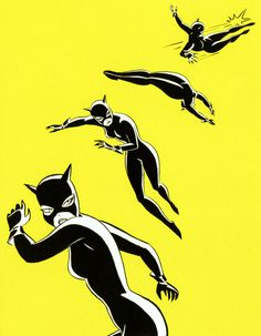 mechpilotenvy:    Catwoman by Bruce Timm, scanned from a notecard set I bought way back in 2000.