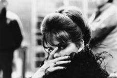 """Claudia Cardinale on the set of  """"Otto e 1/2"""" (Federico Fellini)"""