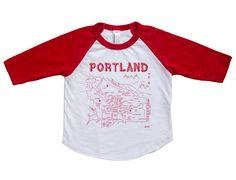 Maptote | Portland Baby Baseball Tee