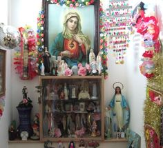 """YES. – From the blog eklektick, """"Flickr Favorites: May Altars and Religious Kitsch"""""""