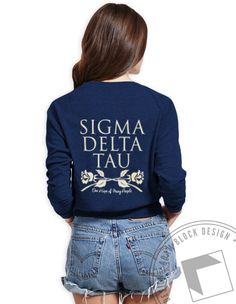 Sigma Delta Tau - One Hope of Many People Raglan by ABD BlockBuy! Just $23 each plus shipping until Apr 13 | Adam Block Design | Custom Greek Apparel & Sorority Clothes | www.adamblockdesign.com