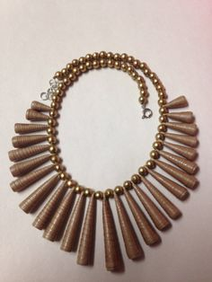 Tribal Necklace - Paper cone beads