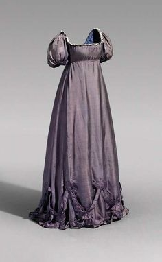 Afternoon silk dress worn Queen Luise of Prussia, ca. 1800