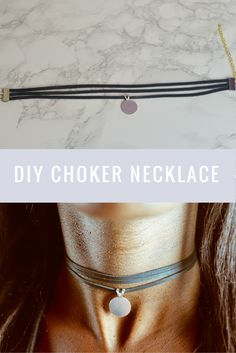 Necklaces Diy DIY Layered Choker Necklace with pendant - Very easy to make - Diy Choker, Layered Choker Necklace, Diamond Necklace Set, Layered Chokers, Chocker Necklace, Diy Necklace, Jewelry Crafts, Handmade Jewelry, Thin Gold Chain
