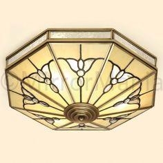 Gladstone Art Deco Flush Ceiling Pendant