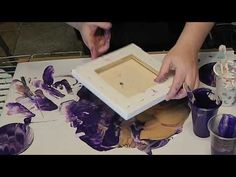 (15) Dip Technique with Purple Acrylic Pour - YouTube