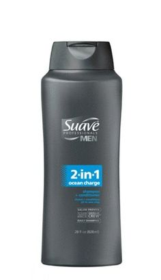 Suave Professionals mens, shampoo and conditioner, 2 in 1 ocean charge, 28oz