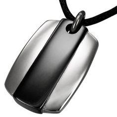 Modern Stainless Steel Mens Ingot Pendant With Adjustable Cord Men's Jewellery #mensfashion #mensjewellery