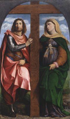 Saint Helena and Constantine / Santa Elena y Constantino // 1520 - 1522 // Palma il Vecchio (Jacopo Negretti) // Pinacoteca di Brera // #TrueCross #TheCross