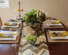 Decorate a Festive Thanksgiving Table -graphic & contemporary