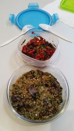 Okra, mushrooms and quinoa! Deliciousss!!!