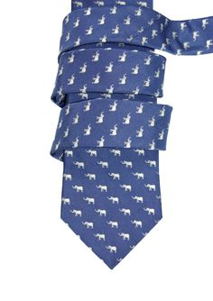Elephant silk tie, made in Italy, KORNIS