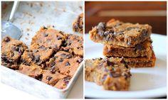 Flourless Chocolate Chip Chickpea Blondies with Sea Salt {vegan, gluten-free & healthy} by Monique of AmbitiousKitchen.com