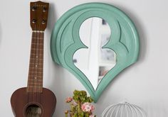 Mirror in mint color. Classical design. Details for Home.