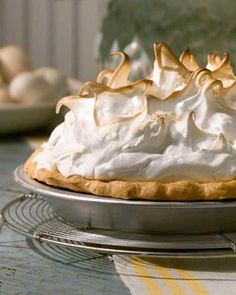 Coconut Cream Pie ~ Coconut-cream pie, a spin-off of custard-cream pie, is a traditional Southern favorite that has moved far beyond the lower regions of the country to more widespread appreciation. This recipe is Martha's version of the classic dessert.